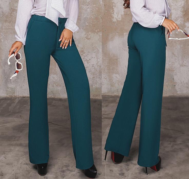 c92791324d7 Женские брюки с карманами. Изумруд