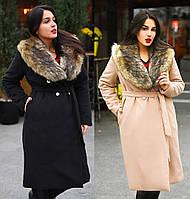 Зимнее кашемировое пальто, большого размера. 2 цвета.