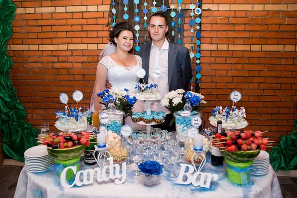 Кэнди-бар на свадьбу своими руками