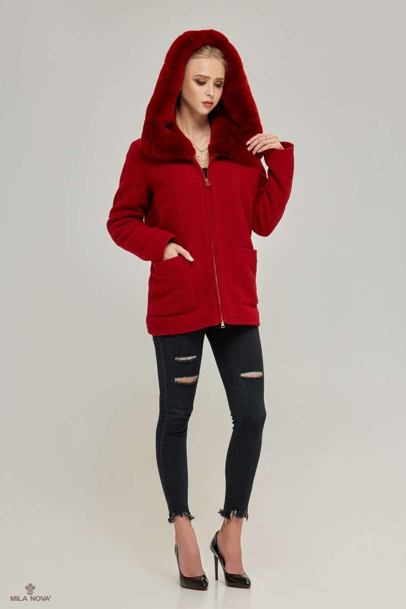 a2aa6b0ef1a Mila Nova Пальто ПВ-74кор Красное - Интернет-магазин одежды ТОПШОП в  Мариуполе