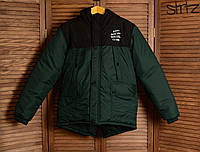 Зимняя Мужская Теплая Куртка-Парка Anti Social Social Club Мужские Зеленые Куртки Зимние
