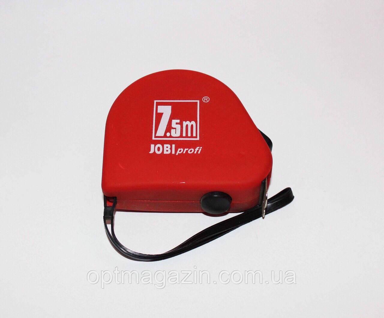 Рулетка вимірювальна Джобі профі. Jobi profi 7.5 м