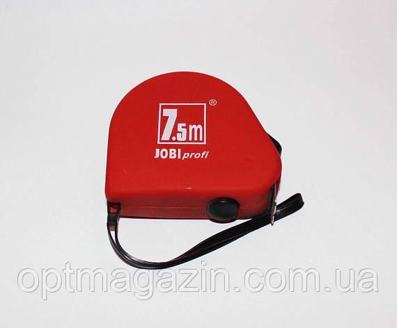 Рулетка вимірювальна Джобі профі. Jobi profi 7.5 м, фото 2