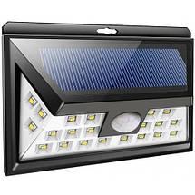 Светильник настенный на солнечной батарее 8W с датчиком движения, фото 2
