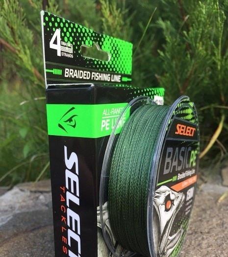 Шнур Select Basic PE 150m (темн.зел.) 0,22мм 30LB/13,6kg