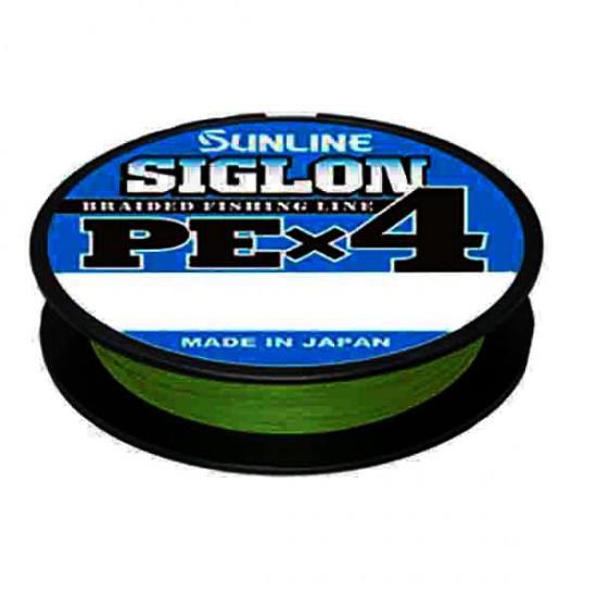 Шнур Sunline Siglon PE x4 300м (темн-зел.) #1.2/0.187 20LB/9,2кг