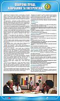 Стенд. Охорона праці. Навчання та інструктаж. 0,6х1,0 м. Пластик