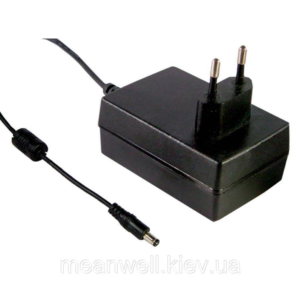 GSM25E15-P1J AC DC адаптер питания 15В, 1,66А Mean Well