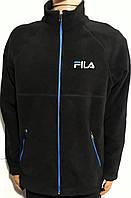 Спортивные флисовые кофты мужские ФИЛА (FILA) Черная
