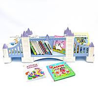 Книжная полка детская навесная Tower Bridge (London, UK), Натуральное дерево, (Blue), Коллекция History