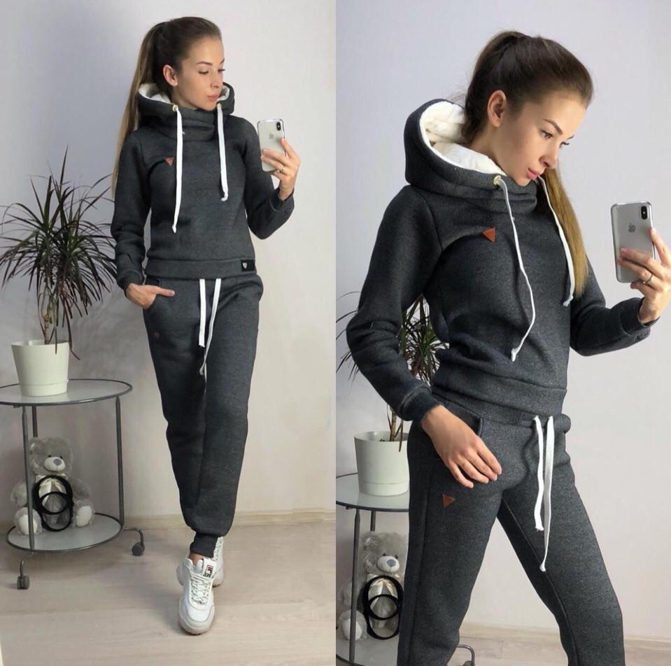 Теплый женский спортивный костюм БАТАЛ 48-54 (3расцв.)  продажа ... f8c88af8c0d