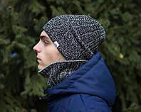 Хомут + Шапка комплект Snegopad Pobedov светло серый (РЕПЛИКА)