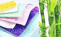 Экологически Чистые Бамбуковые Салфетки для Уборки и Мытья Посуды