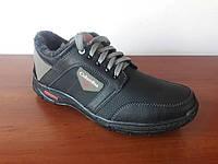 Ботинки мужские зимние черные спортивные удобные (код 4591), фото 1