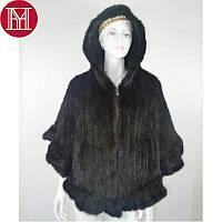 Женская норковая жилетка, шаль, пончо из скандинавской вязанной норки, фото 1