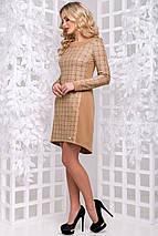 Женское замшевое платье в клетку (2897-2896 svt), фото 3