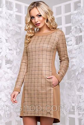Женское замшевое платье в клетку (2897-2896 svt), фото 2
