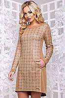 Женское замшевое платье в клетку (2897-2896 svt)