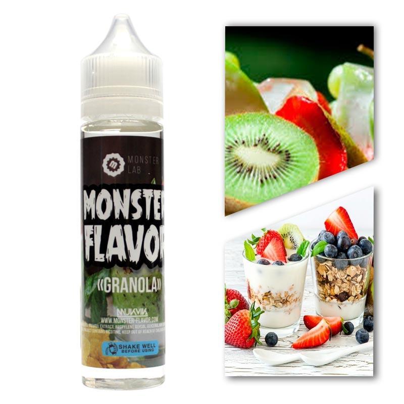 Жидкость Monster Flavor - Granola (Киви Клубника Хлопья), 3 mg