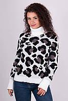 Теплый свитер с леопардовым принтом.Разные цвета