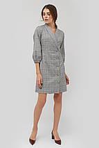 Женское приталенное серое платье с отложным воротником (Exeli crd), фото 3