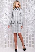 Женское приталенное платье в клетку (2898 svt), фото 2