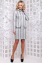 Женское приталенное платье в клетку (2898 svt), фото 3