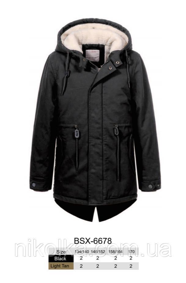 Куртки утеплённые для мальчиков оптом, Glo-story, 134/140-170 рр., арт. BSX-6678
