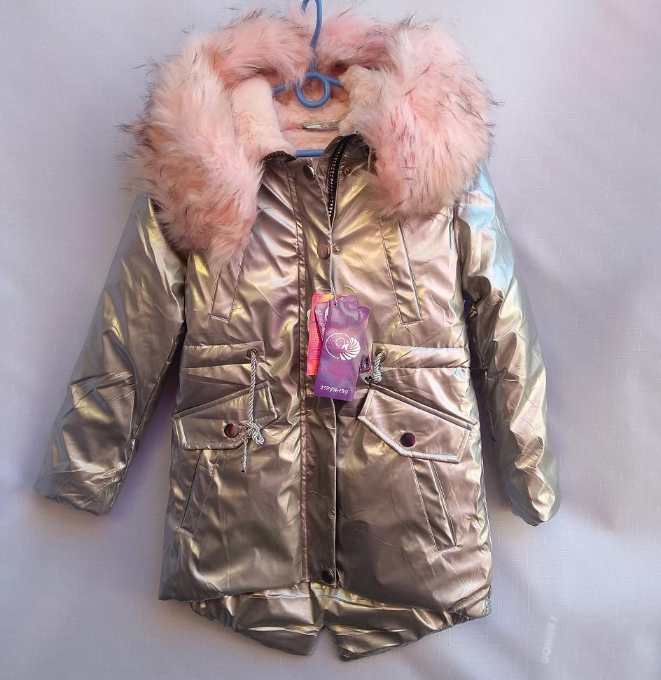 Детское пальто 128-152 Блеск-Зима 985671