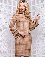 Женское платье в клетку из замши (2899-2900 svt)