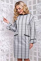 Женское платье в клетку из замши (2899-2900 svt), фото 2