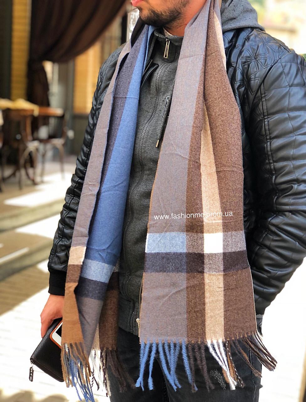 32dcf20e0e0e Мужской шарф кашемировый в клетку Gektor теплый и стильный: продажа, цена в  ...