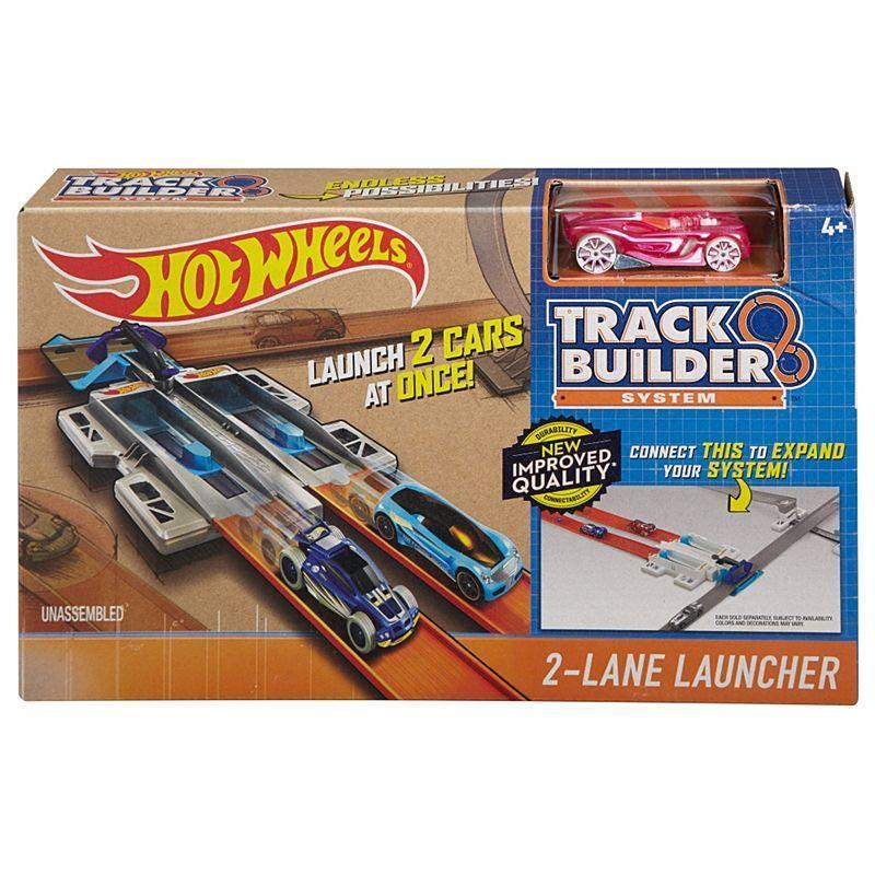 Hot Wheels  машинка Два пускателя Строение Трека Хот Вилс Race Case Track Set