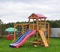 """Детская площадка на дачу """"Двойной спуск"""" под заказ, фото 1"""