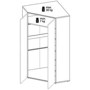 Шкаф угловой Мебель_Amazon_Wojcik Typ 21, фото 2