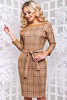 Женское платье в клетку из замши (2906-2907 svt)