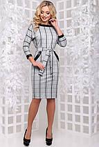 Женское платье в клетку из замши (2906-2907 svt), фото 2