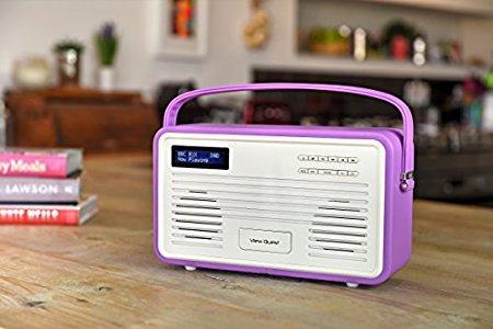 Цифровое радио Doc-станция Apple VIEWQUEST Retro ColourGen, DAB/DAB+/FM, 30-pin-Doc, фиолетовый