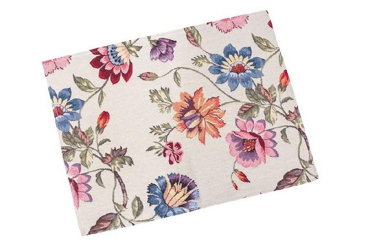 Салфетка под тарелку на стол гобеленовая Цветы 34*44 см SR0070