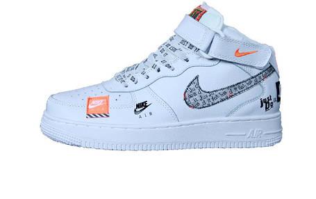 d355262a Мужские кроссовки Nike Air Force 1 Hi Just Do It White/Black, фото 2
