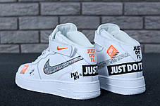 da18bdd3 Мужские кроссовки Nike Air Force 1 Hi Just Do It White/Black, фото 3