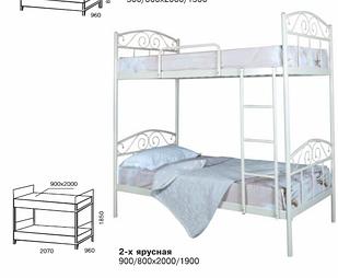 Ліжко двоярусне в дитячу кімнату Еліс Люкс Melbi