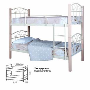 Ліжко двоярусне в дитячу кімнату Лара Люкс Вуд Melbi
