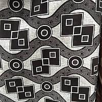 Мебельная ткань рогожка для мягкой мебели рогожка на флоке сублимация ш-3089, фото 1
