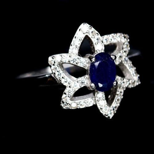 Сапфир, серебро 925, кольцо, 1298КЦС