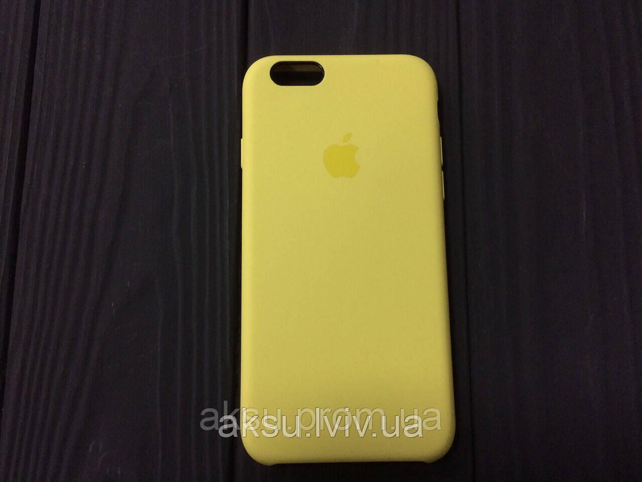 Чехол Silicone case для iPhone 6 / 6s yellow