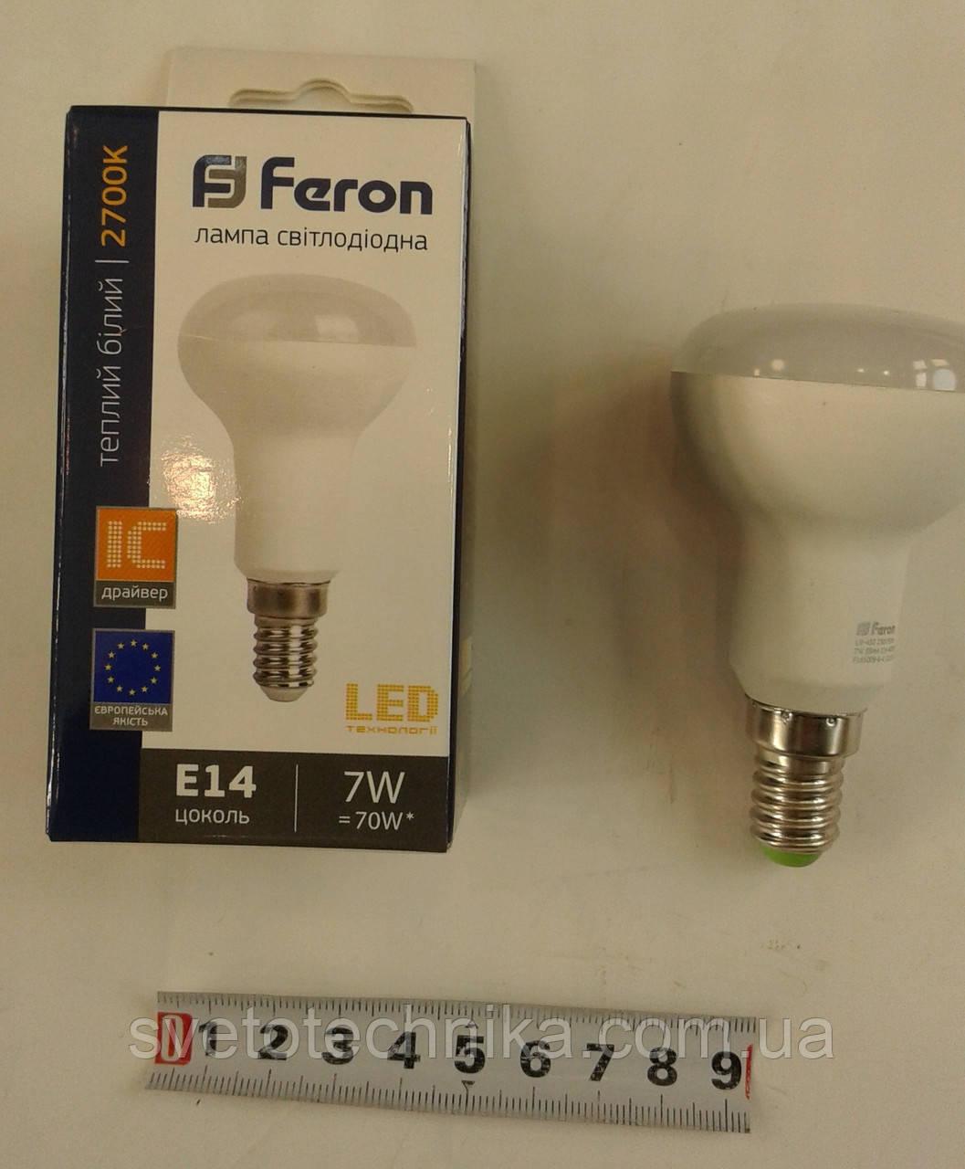 Светодиодная лампа Feron LB450 R50 7W E142700К