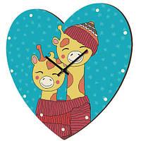 Настенные часы в форме сердца Щаслива парочка 36х36 см (CHS_P_16L009)