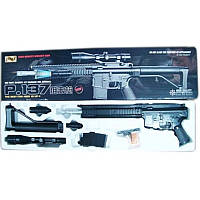 Автомат винтовка Cyma P. 137 Карабин лазерный прицел фонарь стреляет пульками 6 мм