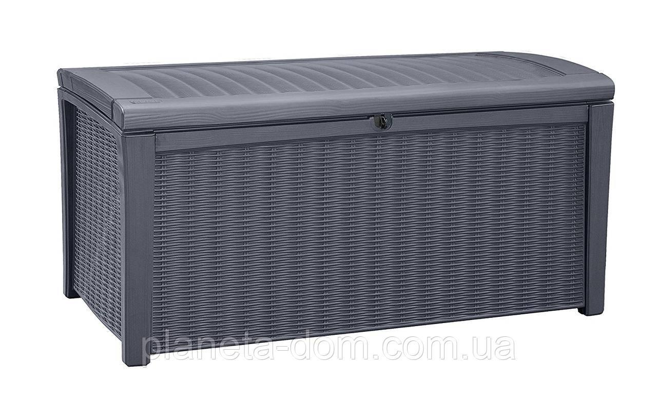 Ящик для внешнего хранения Keter Borneo 416 л, антрацит
